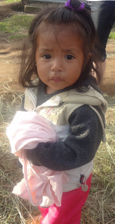 Little girl with clothes